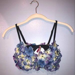 34B VS PINK festival flower push-up bra top